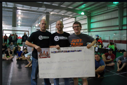 We even made a giant novelty check!