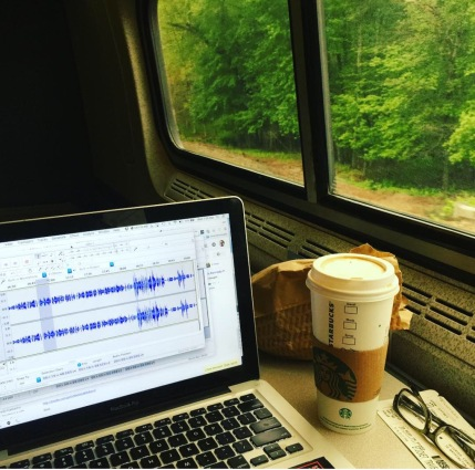 Speaking of training, I just edited a bunch of audio on the train back from NYC. Good times.